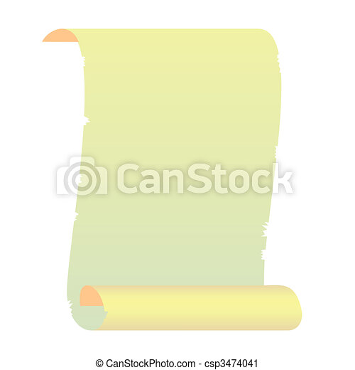 Realistic illustration roll for manuscript - csp3474041