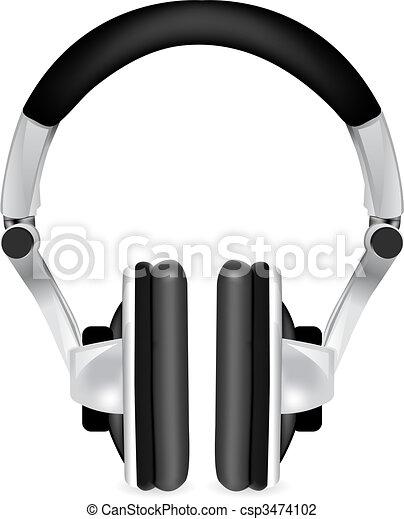 Professional icon of the headphones  - csp3474102