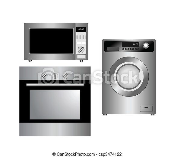 Set of household appliances. Isolated. - csp3474122