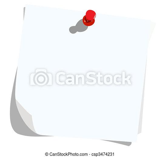 Realistic illustration note pad - csp3474231