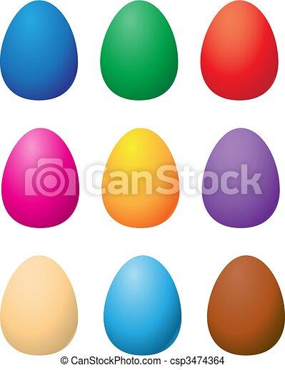 Vecteur eps de paques couleur oeufs csp3474364 recherchez des images graphiques vecteur clip - Dessin oeuf de paques couleur ...