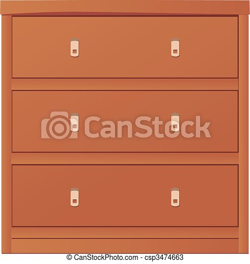 light-coloured chest of drawers - csp3474663