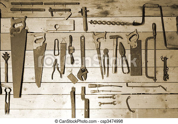 Old hand tools - csp3474998