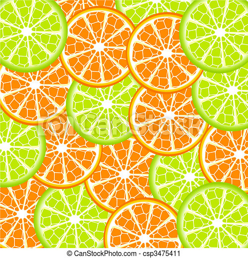 lime and orange background - csp3475411