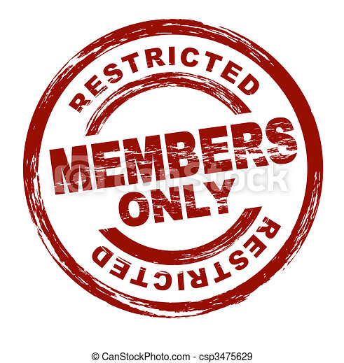 Stock Illustration of Members only - A stylized red stamp ...