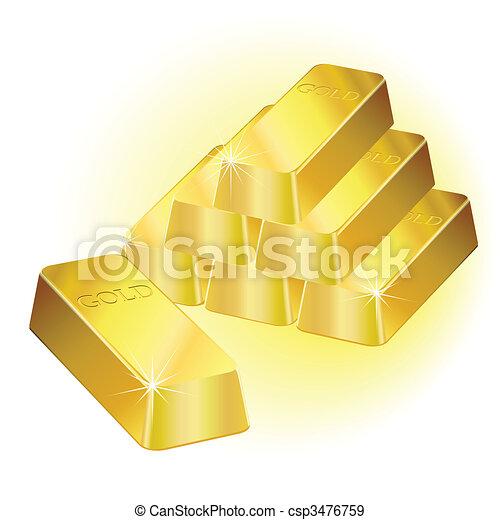 Gold bars - csp3476759