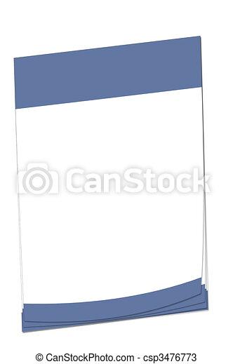 Post-it note Nicaraguan flag - csp3476773