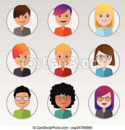 Set of People - csp34768989