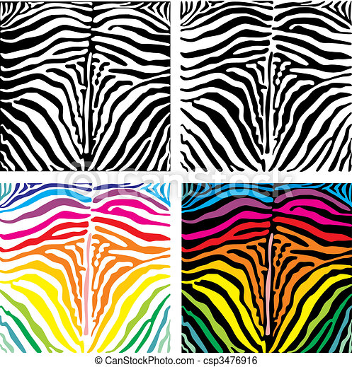 Vector background skin zebra - csp3476916