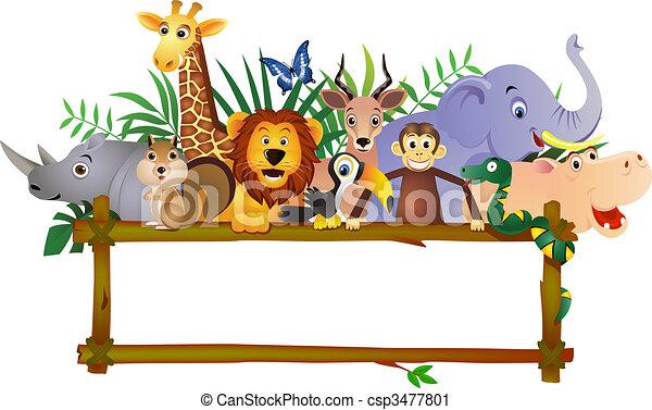 漫画, 動物 - csp3477801