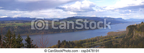 Columbia river gorge Oregon. - csp3478191