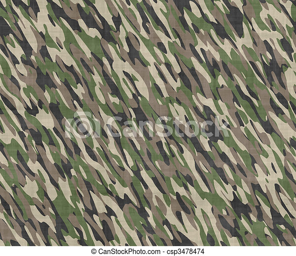 camouflage cloth - csp3478474