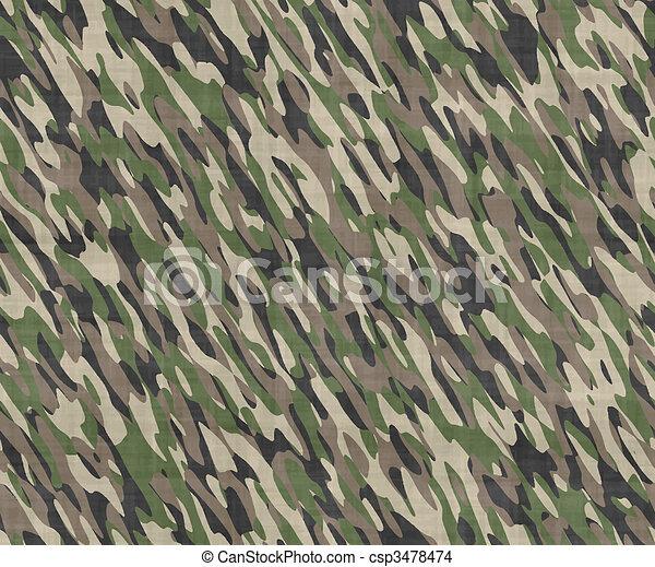 camouflage cloth - csp3478474
