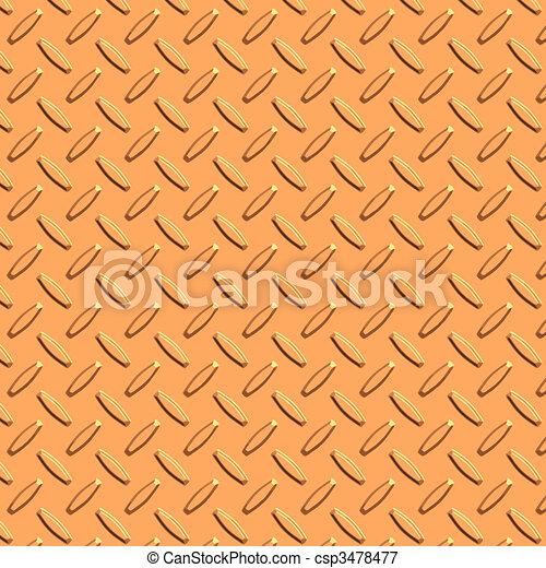 copper diamond plate metal - csp3478477