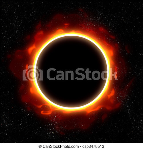total eclipse in space - csp3478513