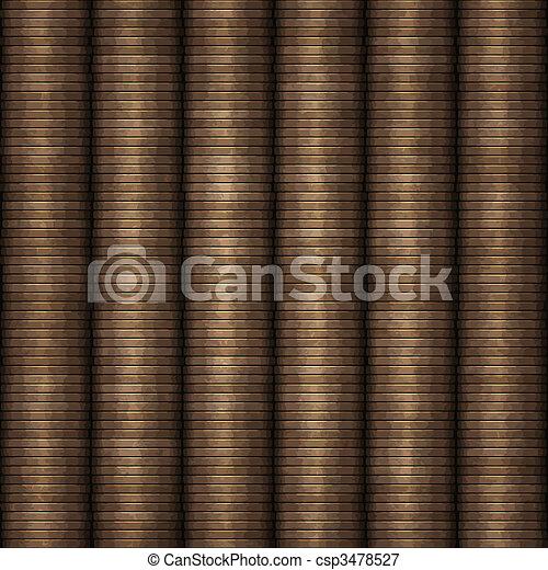 rows of coins money - csp3478527