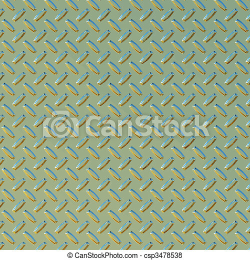 green and gold diamond plate  - csp3478538