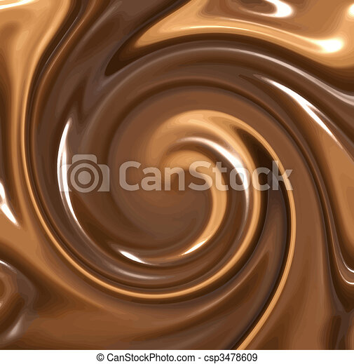melted chocolate swirl - csp3478609