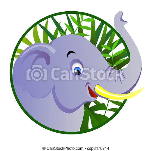 Cute elephant - csp3478714
