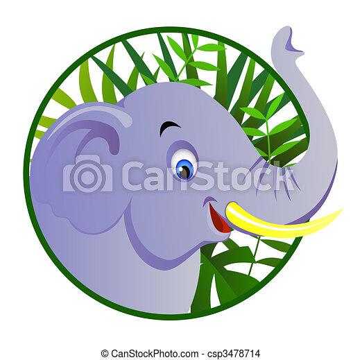 Cute elephant - csp3478714