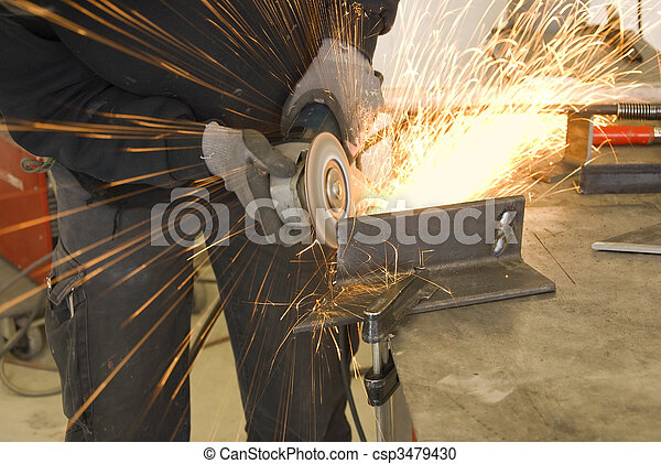 steel worker grinder - csp3479430