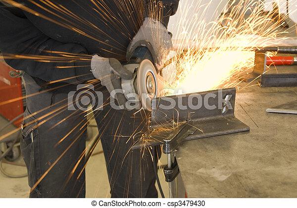 steel worker grinder - csp3479430