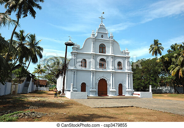 Old church in Cochin, Kerala, India - csp3479855