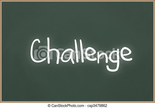 Chalkboard with text Challenge - csp3479862
