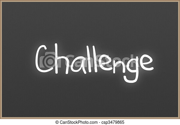 Chalkboard with text Challenge - csp3479865