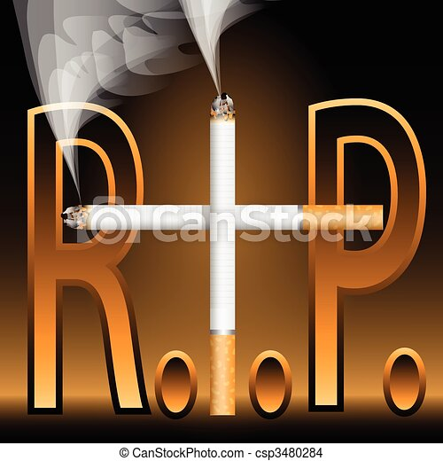 Smoking Kills-R.I.P. - csp3480284