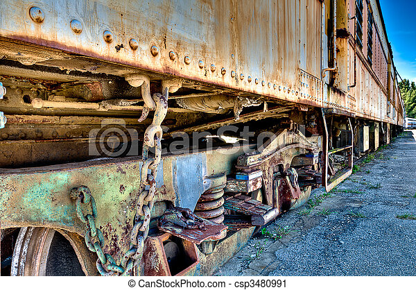 Old rusted train - csp3480991