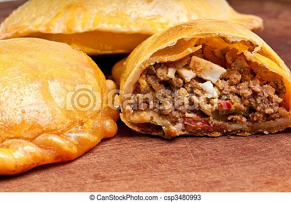 Open beef empanada - csp3480993