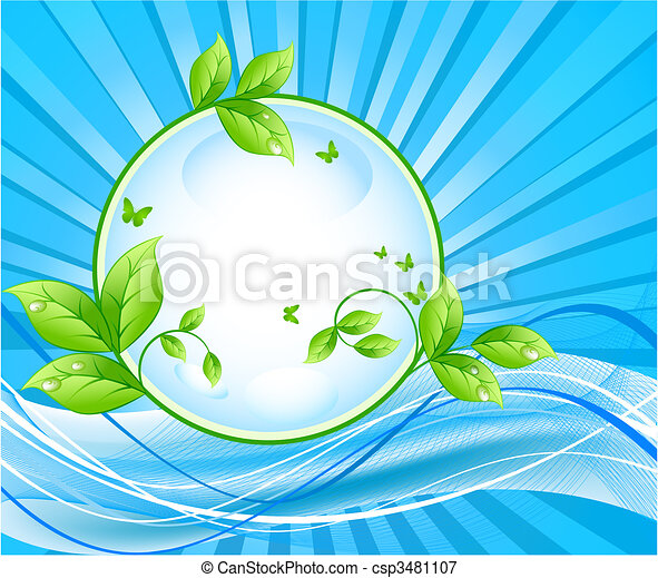 Ecology vector background - csp3481107