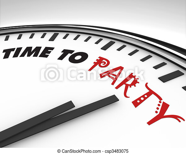 Time to Party - Clock - csp3483075