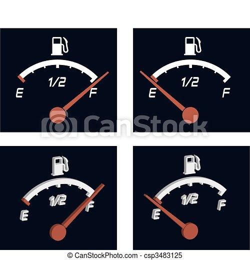 illustration of generic fuel meter  - csp3483125