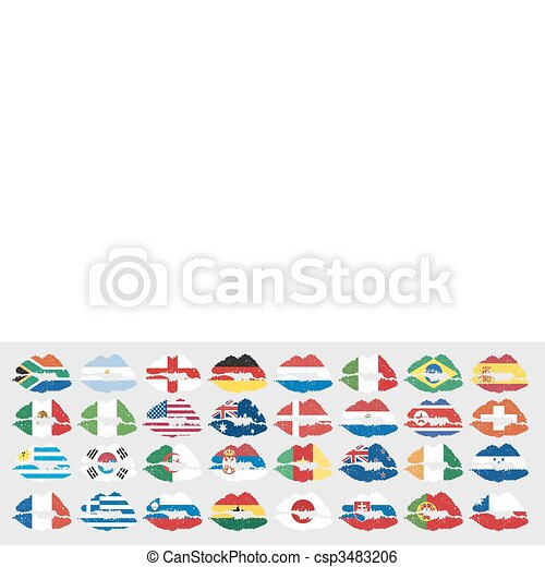 national flags of countries - csp3483206
