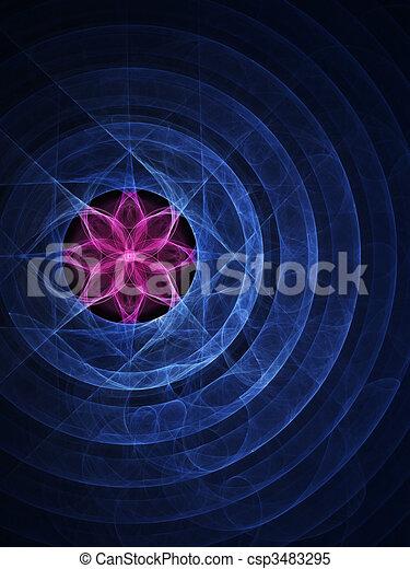 lotus circle ring - csp3483295