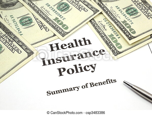 Health Insurance Policy and Cash - csp3483386