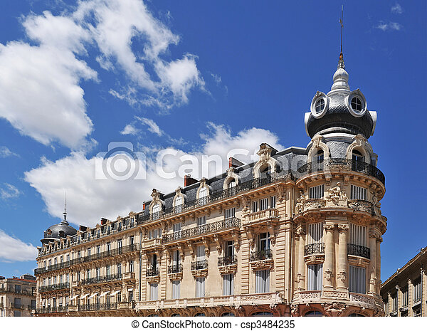 french architecture in Montpellier - csp3484235