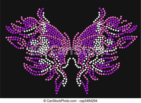 butterfly graphic artwork - csp3484294