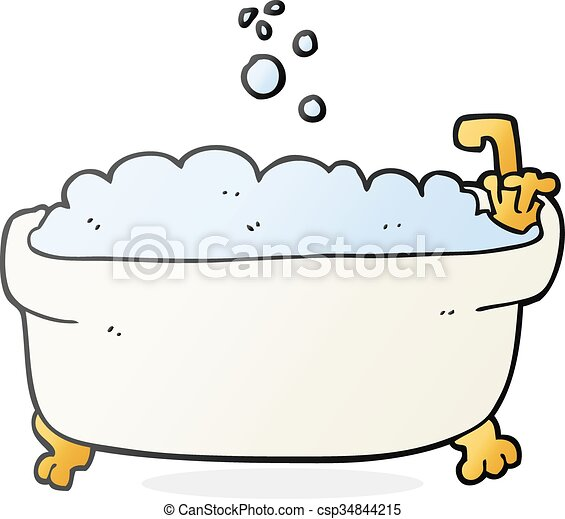 Clip art vecteur de baignoire dessin anim freehand dessin dessin anim - Email de baignoire abime ...