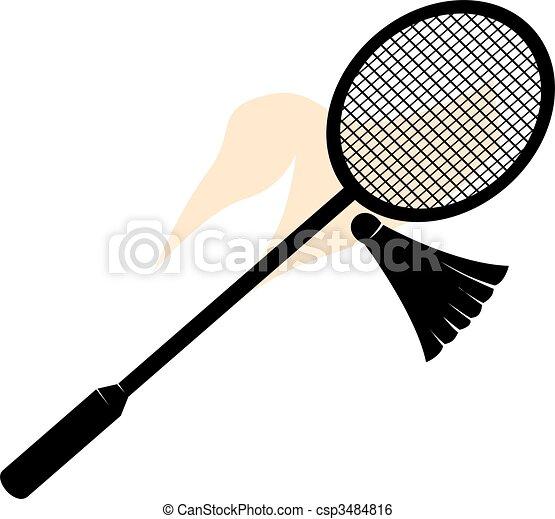 Stock illustratie van sporten illustratie van een - Raquette dessin ...