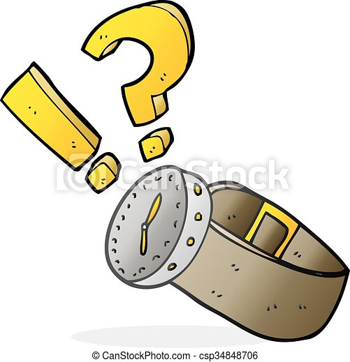 Armbanduhr gezeichnet  Vektor Clipart von armbanduhr, karikatur - freehand, gezeichnet ...
