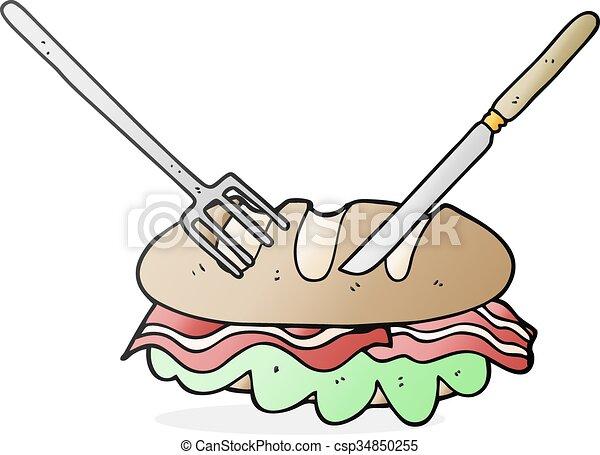 Sandwich Clip Art Knife