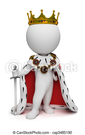 3d small people - king - csp3485190