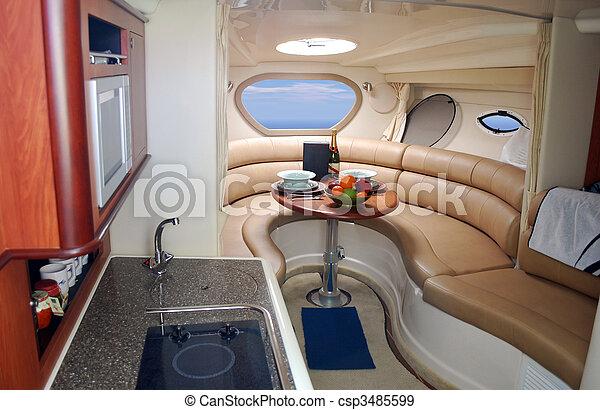 luxury yacht interior - csp3485599