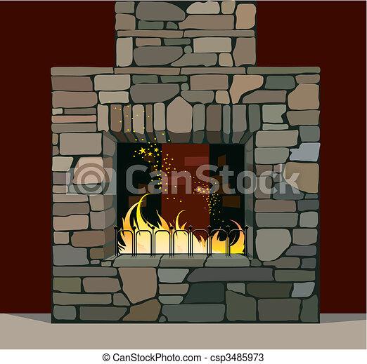 Fireplace - csp3485973