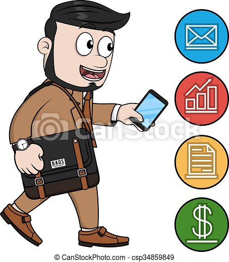 Man phone Clip Art Vector and Illustration. 18,286 Man phone ...