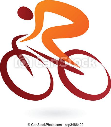 Cyclist Icon - vector illustration - csp3486422