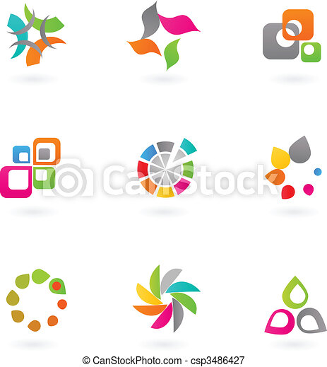 Abstract icon set - 6 - csp3486427